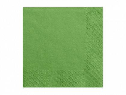 Vienkrāsainas salvetes, zāles zaļā krāsa, 20 gb, 33x33 cm, 3 slāņi