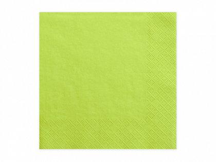 Vienkrāsainas salvetes, ābolu zaļā krāsa, 20 gb, 33x33 cm, 3 slāņi