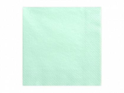 Vienkrāsainas salvetes, mint krāsa, 20 gb, 33x33 cm, 3 slāņi