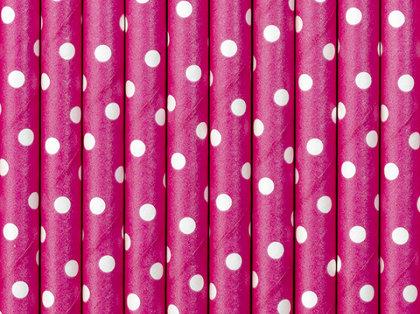 """Salmiņi """"ar punktiņiem"""", spilgti rozā krāsa, 10 gb"""