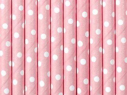 """Salmiņi """"ar punktiņiem"""", gaiši rozā krāsa, 10 gb"""