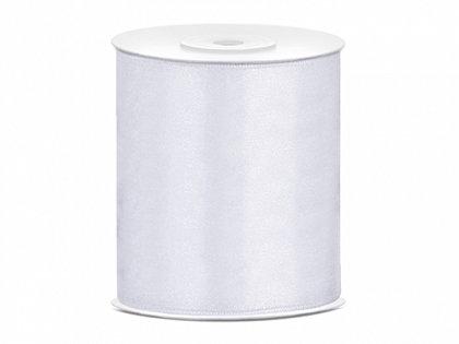 Satīna lenta,baltā krāsā