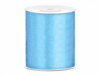 Satīna lenta, gaiši zilā krāsā