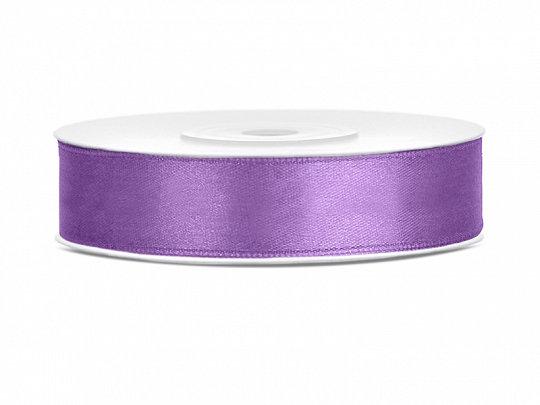 Satīna lente, 12mm/25m, lavandas krāsa