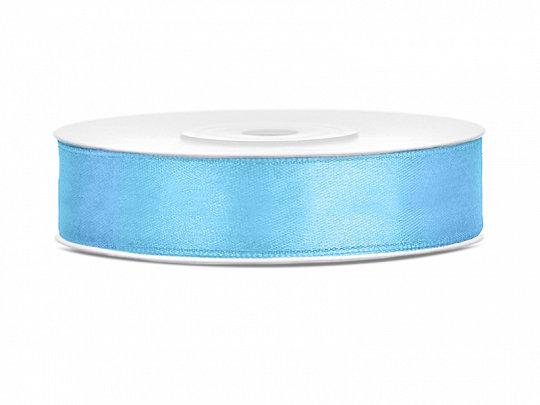 Satīna lente, 12mm/25m, gaiši zilā krāsa