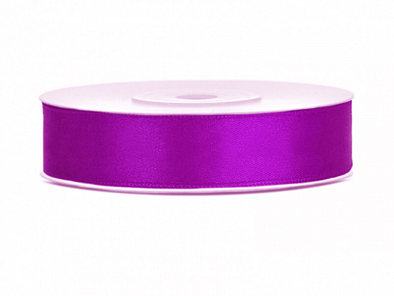 Satīna lente, 12mm/25m, lillā krāsa