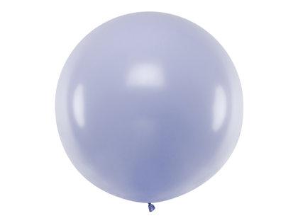 1 m balons, apaļš, gaiši lillā krāsa, pastelis - 1 gb.