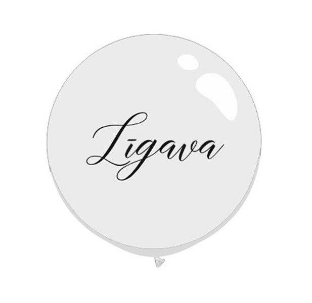 """Vinīla uzlīme balonam """"Līgava"""", 45x22 cm, melnā krāsa"""