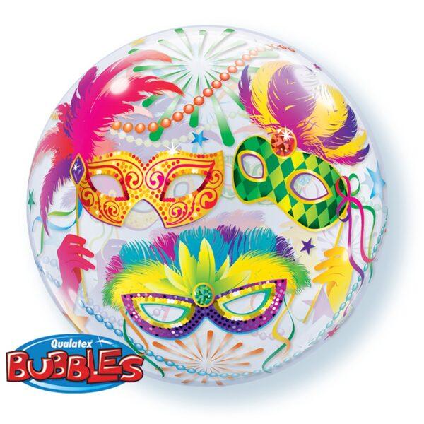 """Bubble balons """"Maskas"""", apaļš, 56 cm"""