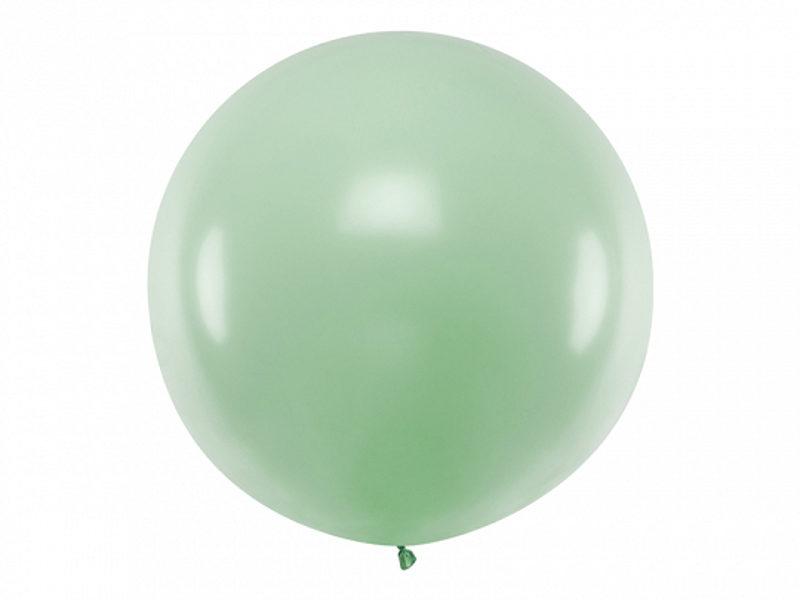 1 m balons, apaļš, pistāciju krāsa, pastelis - 1 gb.