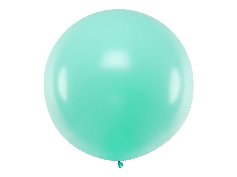 1 m balons, apaļš, mint krāsa, pastelis - 1 gb.