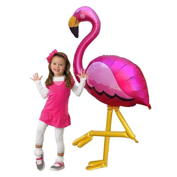 """Staigājošais folija balons""""Flamingo"""", 86 cm x 172 cm"""