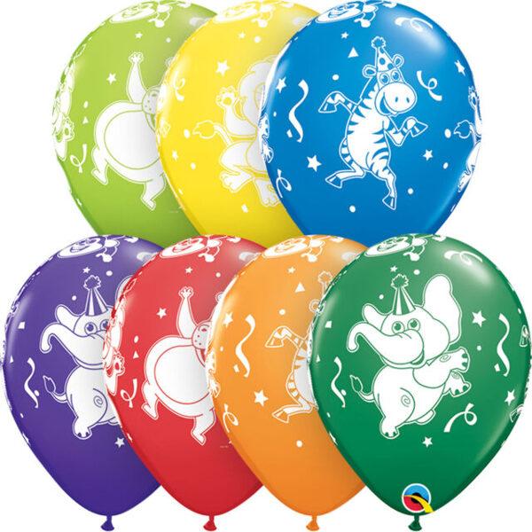 """28 cm lateksa balons """"Dzīvnieku ballīte"""" - 1 gb."""