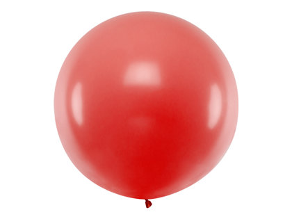 1 m balons, apaļš, sarkanā krāsa - 1 gb.