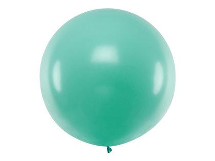 1 m balons, apaļš, zaļā/mint krāsa - 1 gb.