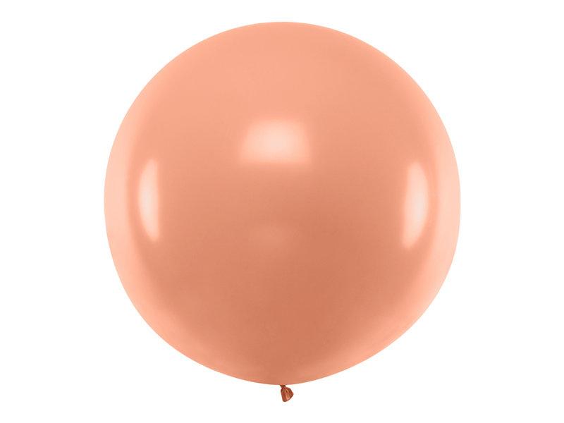 1 m balons, apaļš, rozā zelts, perlamutra - 1 gb.