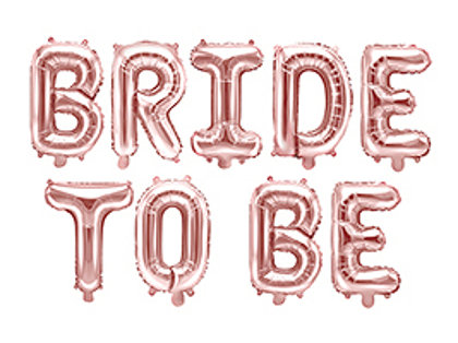 """Folija burtu komplekts """"bride to be"""", rozā zelts, 340 x 35 cm"""