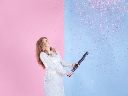 Plaukšķene, boy or girl, rozā krāsa, 60 cm - MEITENE