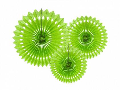 Dekoratīvās rozetes, zaļas, 3 gb