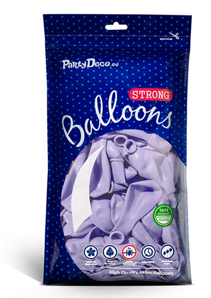 Perlamutra balonu iepakojums, 100 gb., 30 cm, gaiši lillā krāsa