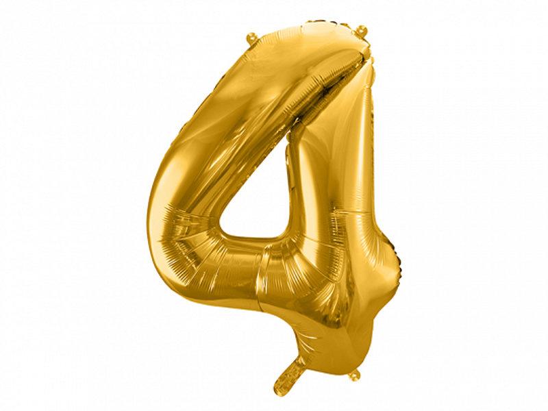 """Folija balons """"4"""", 86 cm, zelta krāsa"""