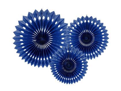 Dekoratīvās rozetes, tumši zilas, 3 gb