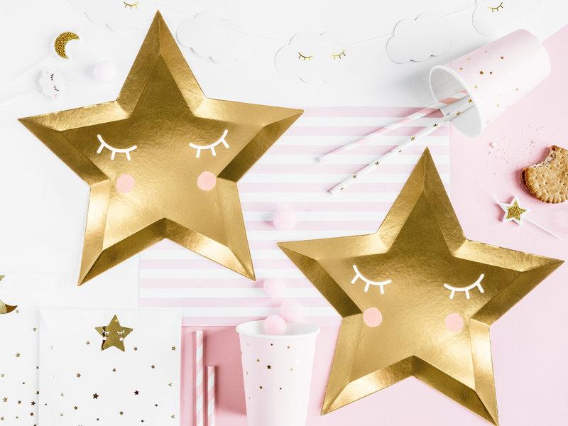 """Šķīvīši """"Zvaigznīte"""", zelta krāsa, 6 gb., 27 cm"""