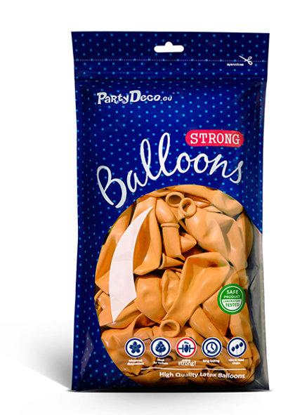 Balonu iepakojums, 100 gb., 30 cm, oranžā krāsa