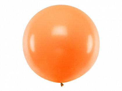 1 m balons, apaļš, oranžā krāsa - 1 gb.