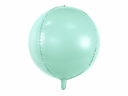 Folija balons, apaļš, 40 cm, gaiša mint krāsa