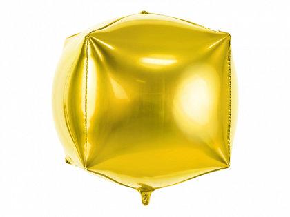 """Folija balons """"kubs"""", 35x35x35 cm, zelta krāsa"""