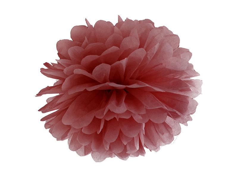 Zīdpapīra pompons, bordo, 25 cm