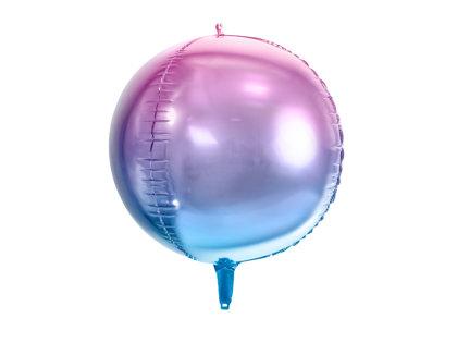 """Folija balons """"Ombre"""", apaļš, 35 cm, violetā un zilā krāsa"""