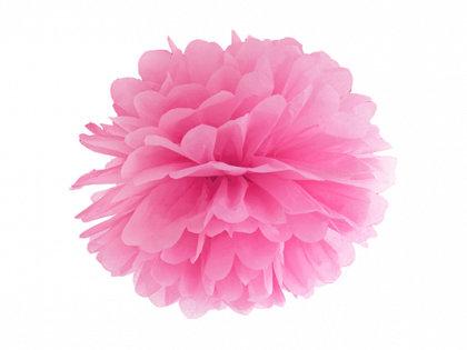 Zīdpapīra pompons, spilgti rozā 35 cm
