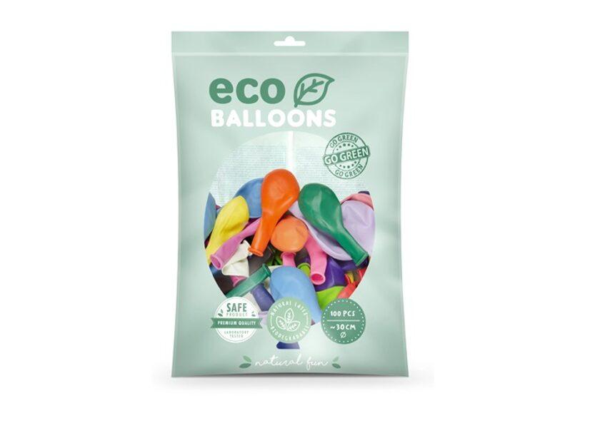 """Balonu iepakojums """"Eco"""", 100 gb., 30 cm, krāsu MIX"""
