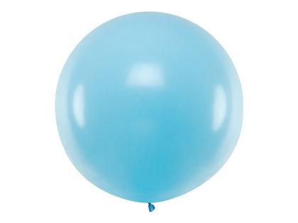 1 m balons, apaļš, gaiši zilā krāsa - 1 gb.
