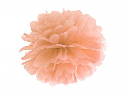 Zīdpapīra pompons, persiku, 25 cm