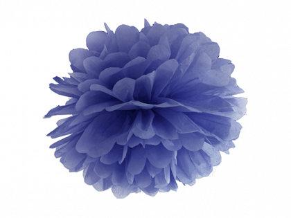 Zīdpapīra pompons, zils, 25 cm