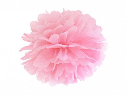 Zīdpapīra pompons, gaiši rozā, 35 cm
