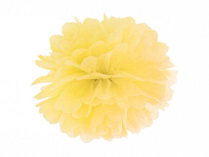 Zīdpapīra pompons, dzeltens, 25 cm