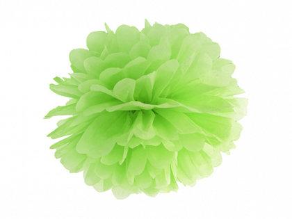 Zīdpapīra pompons, gaiši zaļš, 25 cm
