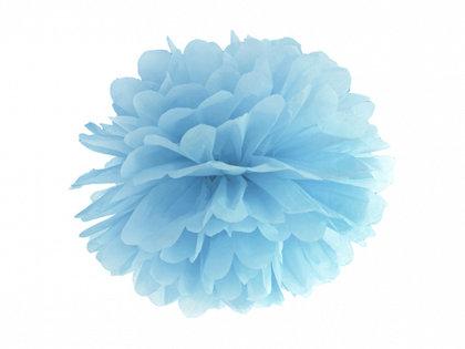 Zīdpapīra pompons, gaiši zils, 25 cm