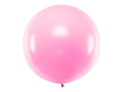1 m balons, apaļš, gaiši rozā krāsa - 1 gb.