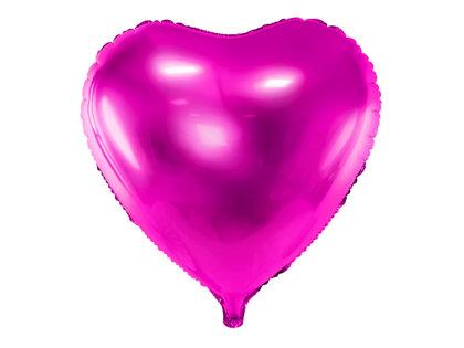 """Folija balons """"sirds"""", 45 cm, fuksijas krāsa"""