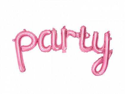 """Piepūšamais folija uzraksts """"party"""", rozā krāsa, 80x40cm"""