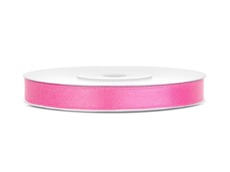 Satīna lente, 6mm/25m, rozā krāsa
