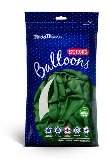 Balonu iepakojums, 100 gb., 30 cm, smaragda zaļā krāsa