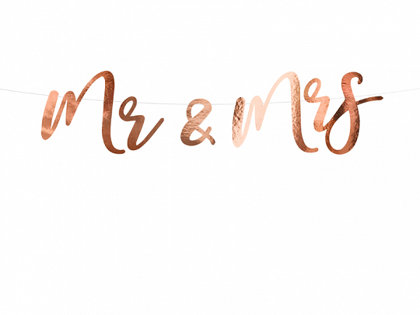 "Baneris ""Mr & Mrs"""