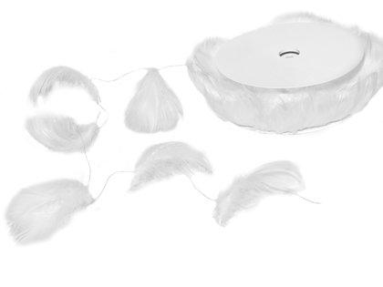 Spalvas uz stieples, baltā krāsā, 10 m